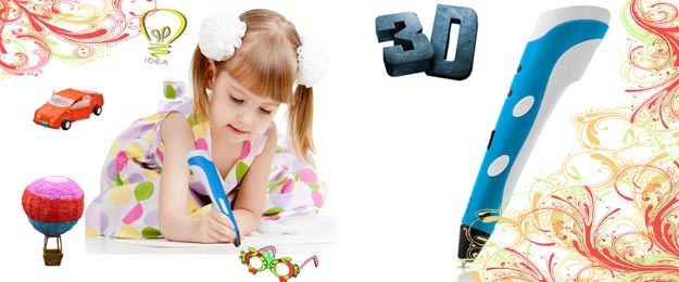 3D pero s náplnami alebo náplne do 3d pera (60m)