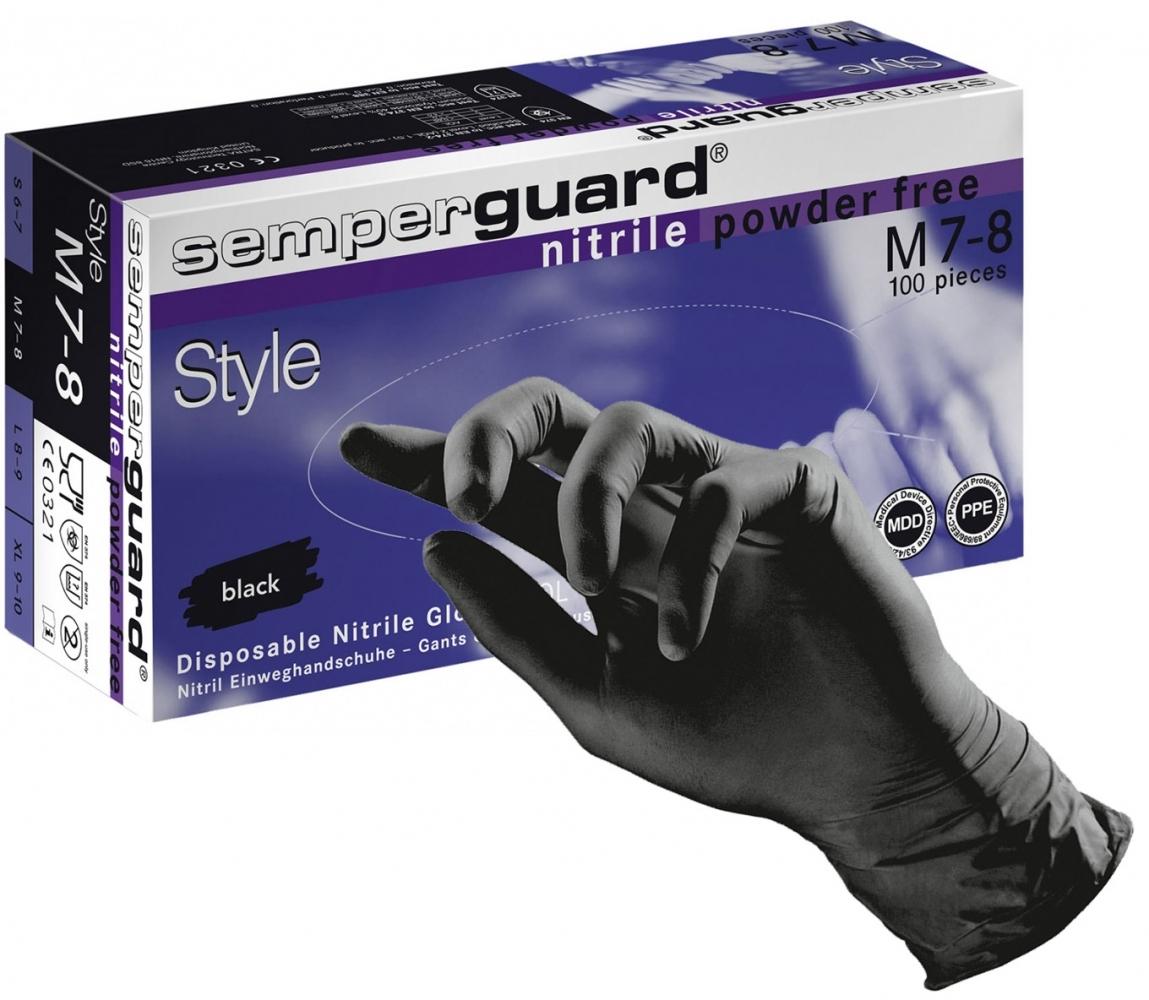 Nitirlove rukavice čierne