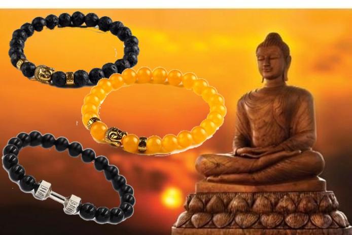 Buddha alebo FIT LIFE náramky z prírodných kameňov