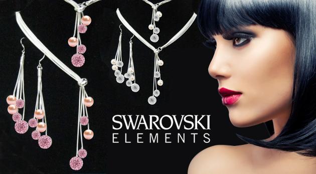 Štvordielny set nádherných šperkov so striebornou úpravou