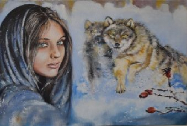 Žena a vlci
